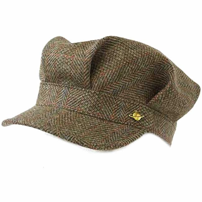 日本製 ワークキャップ メンズ 帽子 毛 ウール100% レイルロード キャップ スコットランドツイードレイルワークM((オリーブ) 56~58cm GARYU PLANET ガリュープラネット 紳士 男性用 女性 男女兼用 帽子 ハット