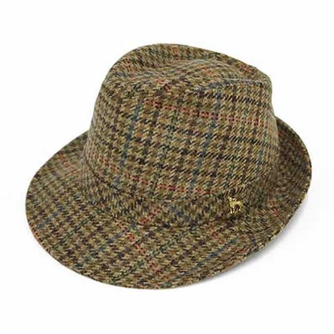 日本製 中折れハット メンズ 中折れ帽 フィールド帽子 毛 ウール100% スコットランド フィールドハットM(カーキ系)56~58cm GARYU PLANET ガリュープラネット 紳士 男性用 女性 男女兼用 帽子 ぼうし
