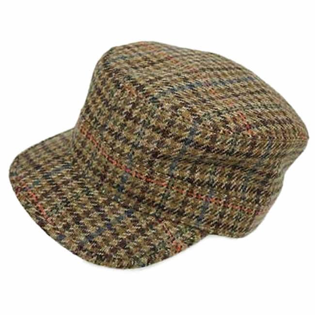 日本製 ワークキャップ メンズ 帽子  スコットランド 毛 ウール100% ワークキャップ(カーキ系)GARYU PLANET ガリュープラネット 紳士 男性用 女性 男女兼用 帽子 ハット