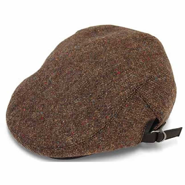 日本製 ハンチング メンズ 毛 ウール100% スコットランド ネップツイード ハンチング(茶) 56~60cm GARYU PLANET ガリュープラネット 紳士 男性用 男女兼用 帽子 ハット ぼうし