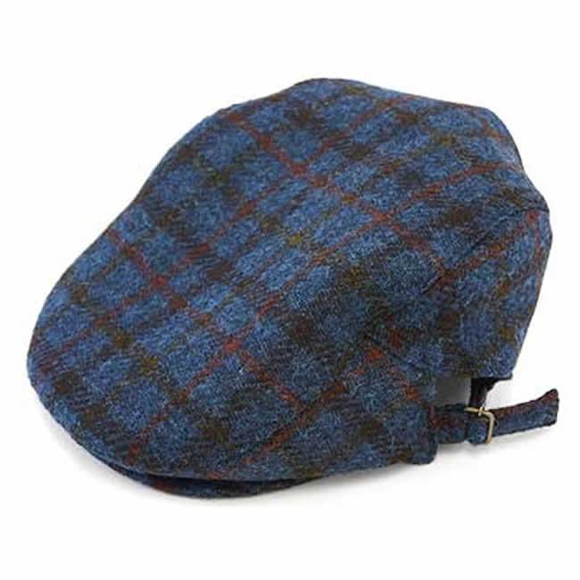 日本製 ハンチング メンズ 毛 ウール100% ハリスツイード サイド美錠ハンチング(ブルー)56~59cm GARYU PLANET ガリュープラネット 紳士 男性用 男女兼用 帽子 ハット ぼうし