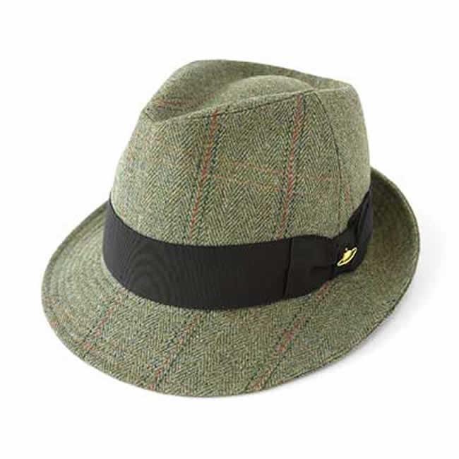 日本製 中折れハット メンズ 中折れ帽 毛 ウール100% 惑星付きAHツイード中折れハットM(グリーン系)56~58cm GARYU PLANET ガリュープラネット 紳士 男性用 女性 男女兼用 帽子 ぼうし