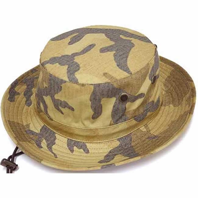 日本製 ハット メンズ サファリハット 綿100% 迷彩柄 カモフラ リップストップ/サファリハット(ベージュ)58 GARYU PLANET ガリュープラネット 紳士 男性用 女性 男女兼用 帽子 ぼうし