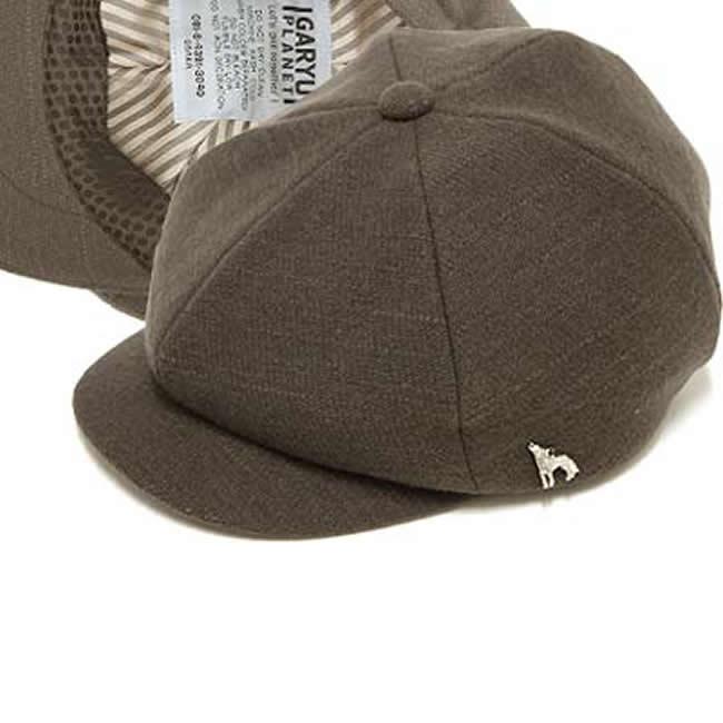 日本製 キャスケット メンズ 毛100% ウールスラブ 6枚はぎキャスケットM(セピアグレー)56~59cm GARYU PLANET ガリュープラネット 紳士 男性用 女性 男女兼用 帽子