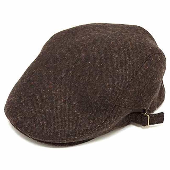 日本製 ハンチング メンズ 毛 ウール100% ネップツイード サイド美錠ハンチングM(こげ茶) GARYU PLANET ガリュープラネット メンズ・紳士 男性用 男女兼用 帽子 ハット ぼうし