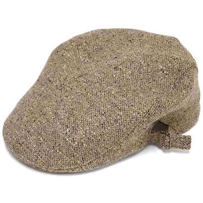 日本製 ハンチング メンズ 毛 ウール100% ネップツイード サイド美錠ハンチングM(ベージュラメ) GARYU PLANET ガリュープラネット メンズ・紳士 男性用 男女兼用 帽子 ハット ぼうし