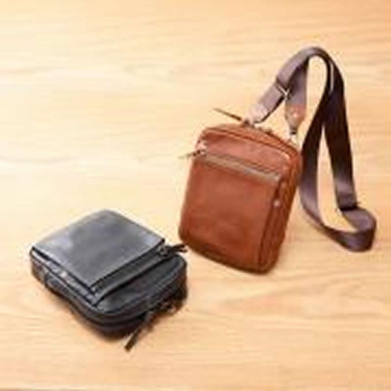 ショルダーバッグ メンズ 3WAYショルダーバッグ ポシェット 斜め掛けバッグ ウエストバッグ ウエストポーチ 日本製 本革 牛革 男性用 紳士用 鞄 バッグ かばん カバン ポシェット 小さい 薄マチ  INDEED