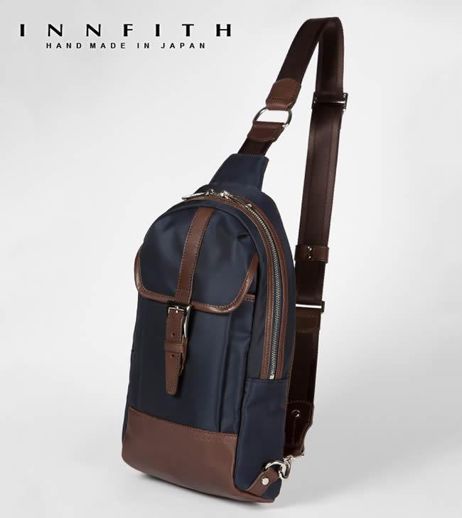 日本製 メンズ 紳士用 ワンショルダー ボディバッグ 縦型 鞄 ボディバッグ INNFITH カバン ボディバッグ 男性用 リュック リモンタナイロン iPad対応 バッグ 【インフィス】 かばん