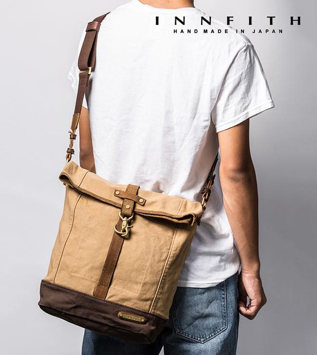 日本製 ショルダーバッグ 斜めがけ メンズ ショルダーバッグ メンズバック A4サイズ RAISE(レイズ) 帆布 口折 ショルダー ショルダーバッグ  軽量 INNFITH 【インフィス】男性用 紳士用 鞄 バッグ かばん カバン