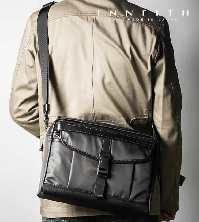 日本製 ショルダーバッグ メンズ 斜めがけ 小型 軽量 横型 ショルダーバッグ メンズバック INCITE(インサイト)撥水 ポリエステル カメラバッグ INNFITH 【インフィス】旅行バッグ 男性用 紳士用 鞄 バッグ かばん カバン