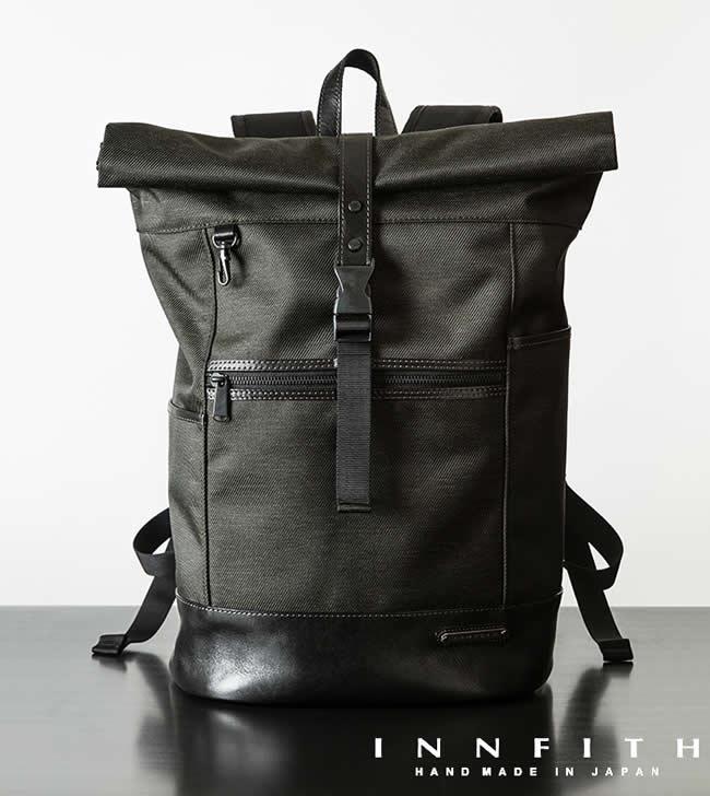 日本製 ビジネスリュック メンズ リュック ビジネスバッグ CONVERT(コンバート)ロールアップ バックパック B4サイズ  INNFITHビジネスバッグ 通勤 通学 男性用 紳士用 鞄 バッグ かばん カバン