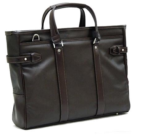ビジネスバッグ メンズ ショルダー付属 日本製 豊岡鞄 豊岡製鞄 豊岡 かばん ショルダーバッグ トート型 通勤バッグ a4 2way トートバッグ ビジネス ファスナー付き 大きめ A4 メンズ ビジネスバッグ トートバッグ チョコ
