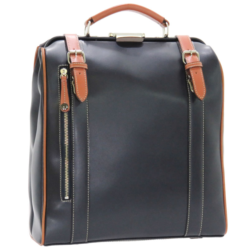 ダレスバッグ メンズ ダレスリュック 2way 日本製 豊岡製鞄 豊岡 かばん ビジネス ダレス リュック ダレスバッグ リュックサック メンズ 縦型 10inサイズタブレット対応 メンズ鞄 リュックサック 旅行 出張 合皮 レザー 本革付属 35cm ネイビー