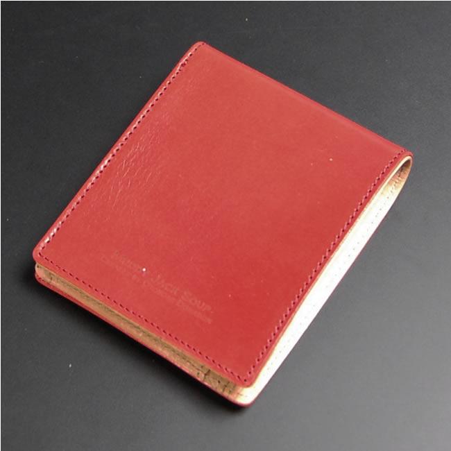 二つ折り財布 メンズ財布 小銭入れあり 本革 牛革 レザー レッド カード4枚 札入れ2室 紳士用(紳士物) 男性用 さいふ サイフ 財布 マディジャックスープ