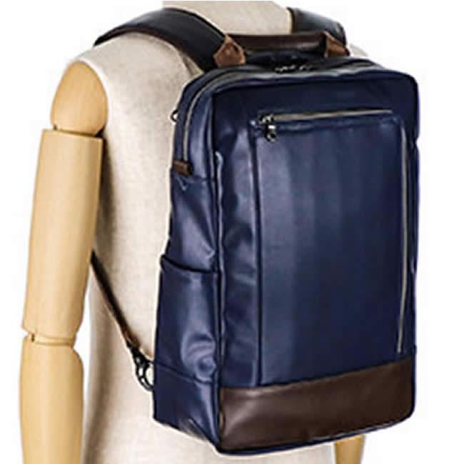 リュック メンズ ディバッグ バッグパック ビジネスバッグ 手提げバッグ 持ち手つき 合成皮革 ネイビー 通勤 通学 メンズ・紳士・男性用 カバン・鞄・かばん・バッグ 父の日 誕生日 クリスマス ギフト プレゼント