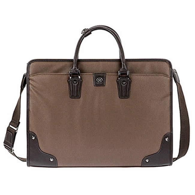 ビジネスバッグ メンズ ショルダー付属 ブリーフケース 軽量 メンズバッグ 大容量 ビジネスバッグ 出張 バッグ ビジネス ブリーフケース メンズ 42cm ブラウン ギフト