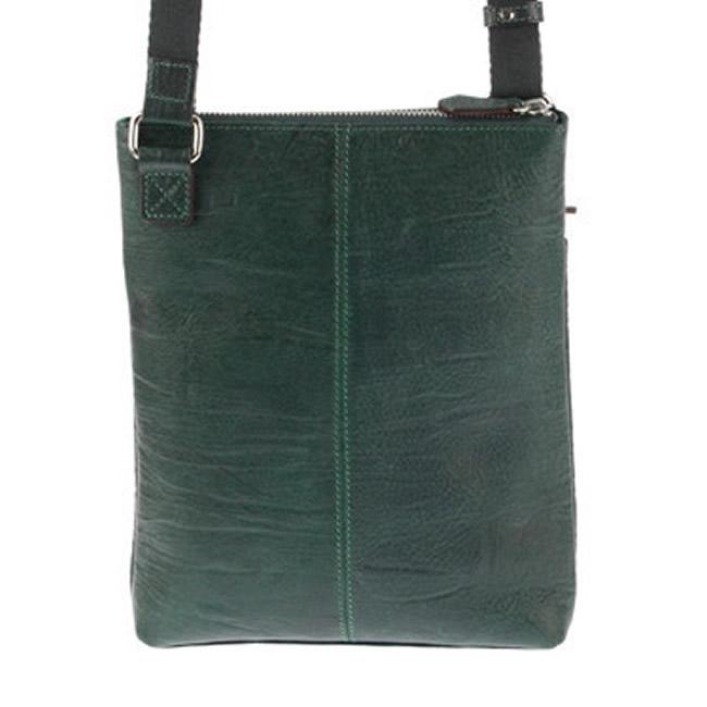 ショルダーバッグ(バック) メンズバッグ ショルダーバッグ 斜めがけ 縦型 薄型 スリム(薄マチ ウスマチ)ブルーグリーン バケッタレザー 牛革 本革 レザー メンズ・紳士・男性 用 カバン・鞄・かばん・バッグ