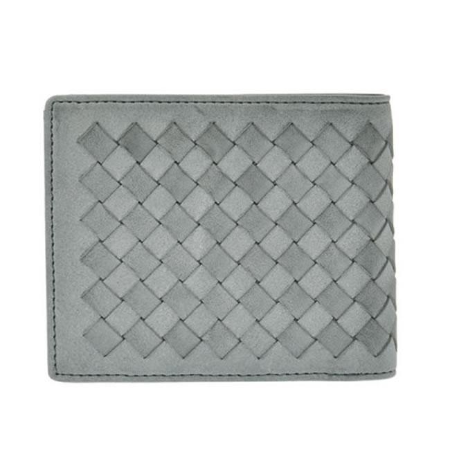 d758988ace23 二つ折り財布 小銭入れあり メンズ財布 折財布 メッシュ カード8枚 ネイビー レザー