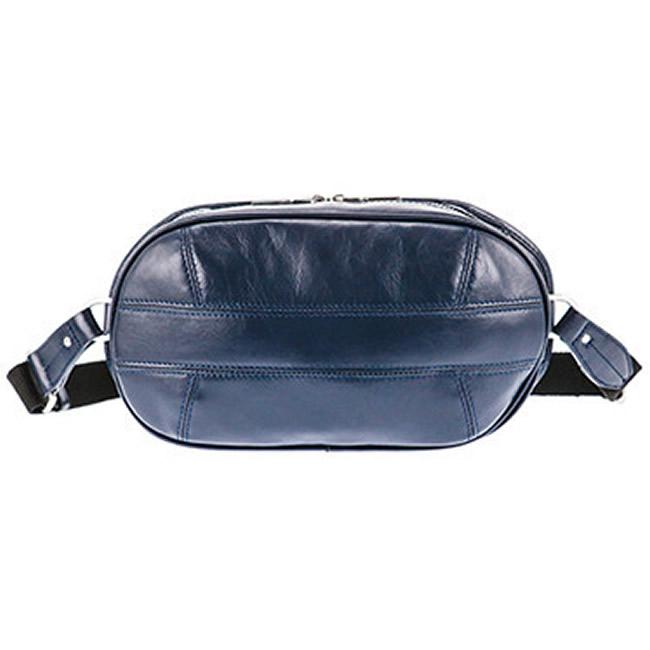 ボディバッグ メンズ ウエストバッグ ウエストポーチ ワンショルダー メンズバッグ ネイビー 牛革 本革 レザー メンズ・紳士・男性 用 カバン・鞄・かばん・バッグ