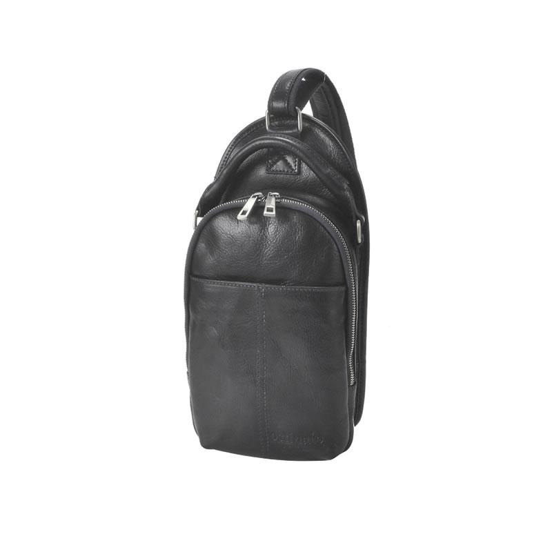 ボディバッグ メンズ バッグ ワンショルダー リュック ディバッグ 肩掛けバッグ ブラック 本革 牛革 イタリアンレザー イタリー製 イタリア製 通学 通勤 男性 紳士用 鞄 かばん ギフト プレゼント