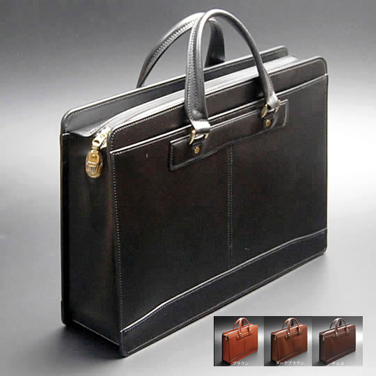 Bag Mens Bag Briefcase Handmade (handcrafted) Cowhide Leather Leather  Leather Mens Menu0027s Menu0027s Business Back Business Bags B4 File (size) Storage  Black ...
