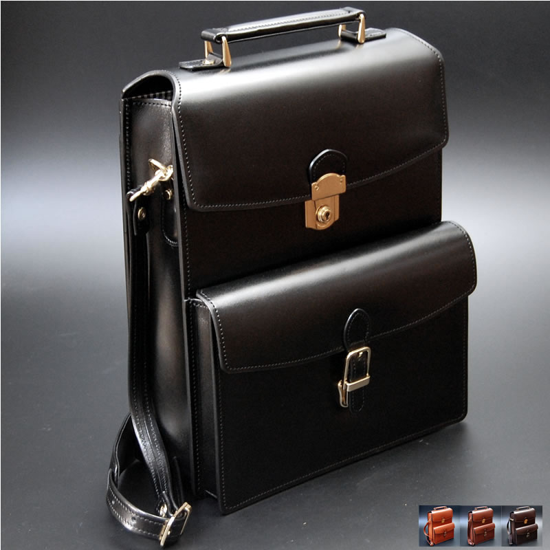 Bon Japan Made Artisan Bag Vertical Messenger Bag Shoulder Bag (come With) Briefcase  Storage Handmade Leather Leather Leather Leather Men Men Mens Business ...