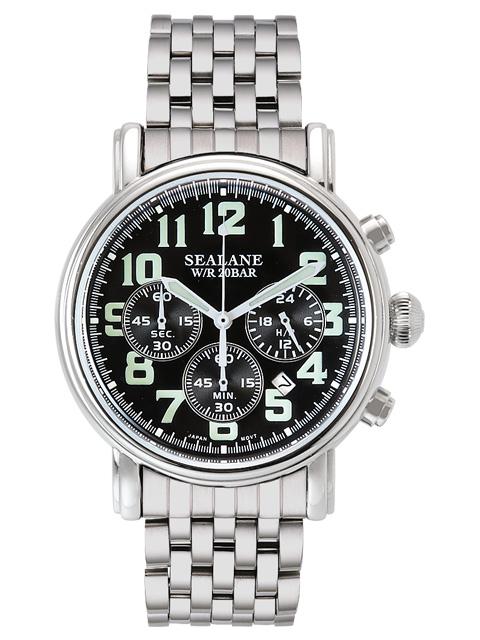 シーレーン 腕時計 SEALANE SE48-MBK