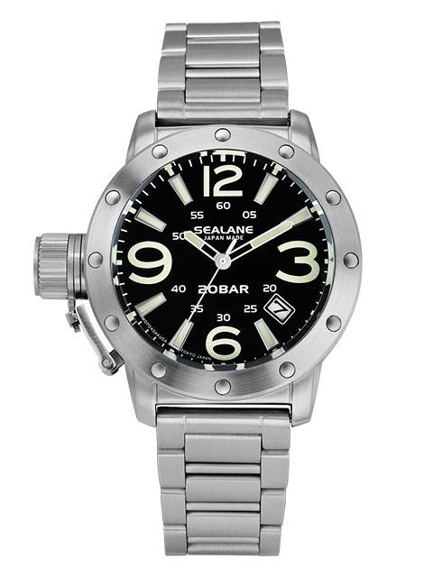 シーレーン 腕時計 日本製 SEALANE SEJ011-MBK