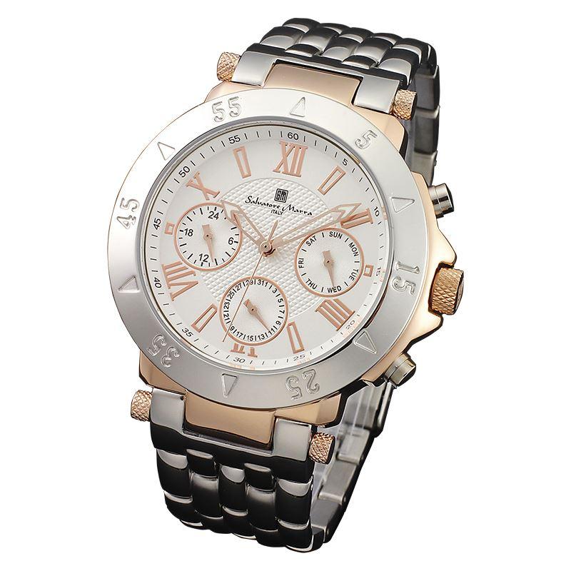 Salvatore Marra サルバトーレマーラ 腕時計 メンズ マルチファンクション SM14118-PGWH