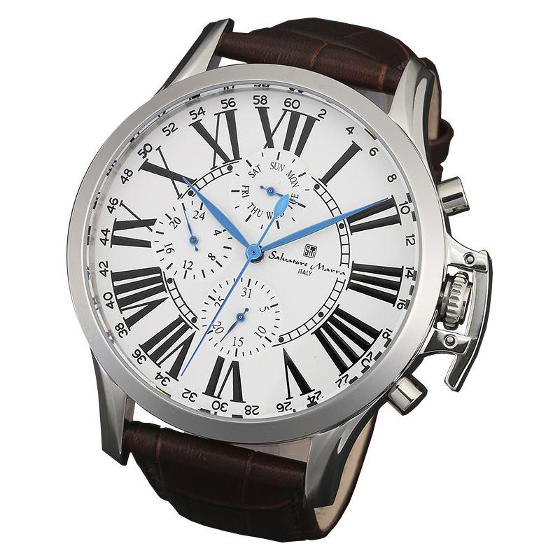 Salvatore Marra サルバトーレマーラ 腕時計 メンズ マルチファンクション SM14123-SSWH