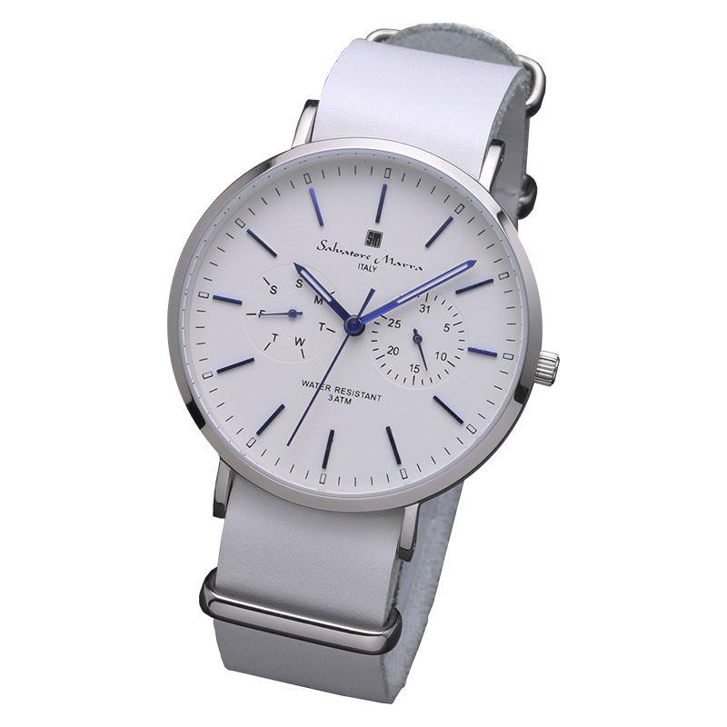 Salvatore Marra サルバトーレマーラ 腕時計 メンズ 薄型マルチファンクション SM15117-SSWHBL