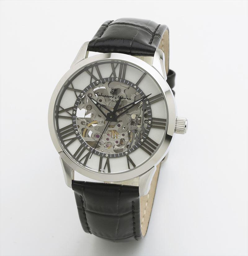 メンズ 時計 レザーウォッチ Marra SM19153-SSWH 機械式 腕時計 サルバトーレマーラ 自動巻き Salvatore