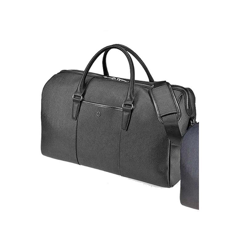 ボストンバッグ 旅行 軽量 2泊 メンズ 出張 ゴルフ ビジネスバッグ メンズ ヘリンボーン柄 大容量  ゴルフバッグ 旅行鞄 47cm ブラック BAGGEX バジェックス エッジ メンズ 紳士 男性用 バッグ かばん 鞄
