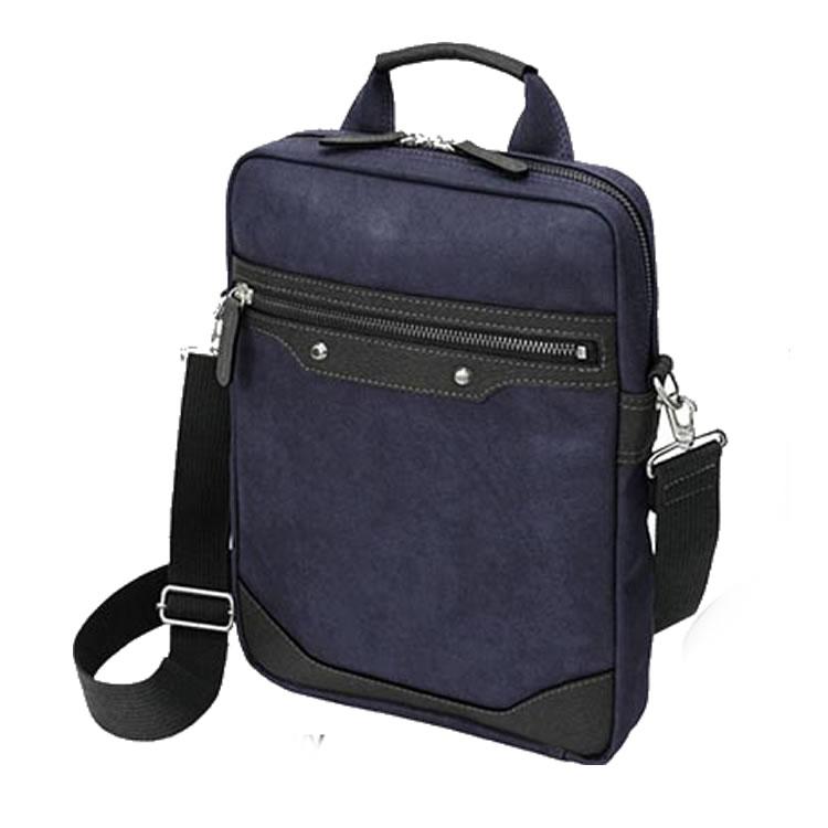 ショルダーバッグ メンズ 斜めがけ メッセンジャーバッグ 日本製 豊岡製鞄 豊岡 縦型 ビジネスバッグ 薄マチ ウスマチ 合成皮革 レザー ネイビー BAGGEX バジェックス 暁 メンズ 紳士 男性用 バッグ かばん 鞄