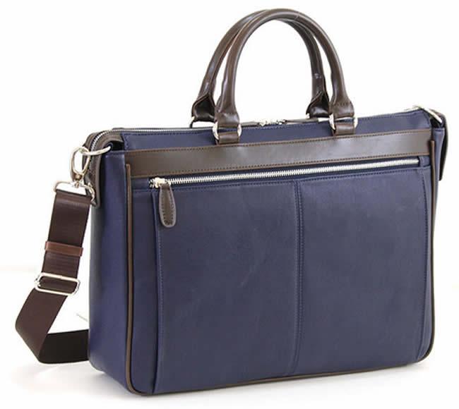 ビジネスバッグ メンズ ショルダー付属 ビジネスバッグ メンズ ブリーフケース 軽量 メンズバッグ 大容量 ビジネスバッグ 出張 ビジネス ブリーフケース メンズ鞄 b4 B4 pc対応 軽量合皮 レザー 革 ビジネスバッグ メンズ ブリーフケース ブランド BUSITOOL ネイビーブルー