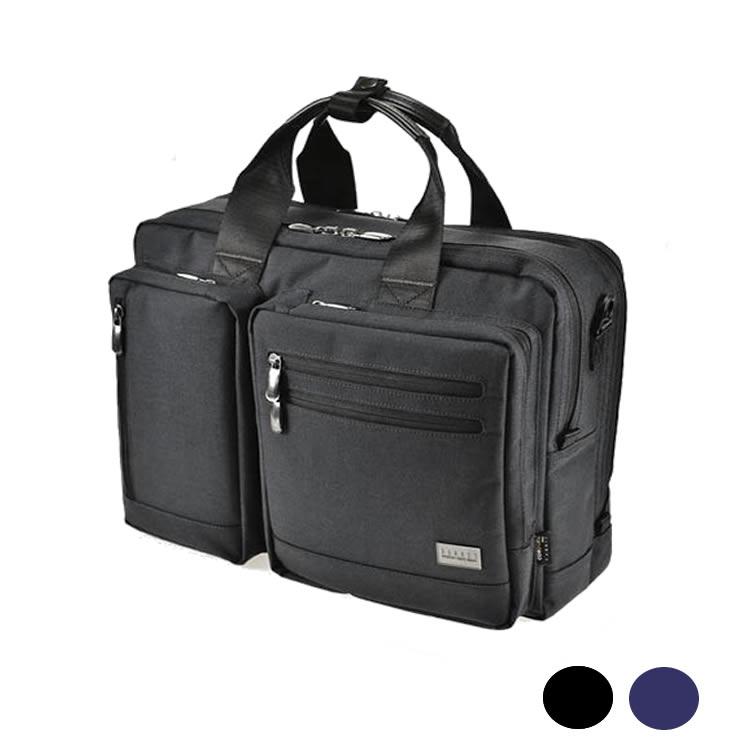 ブリーフケース ブリーフバッグ メンズ ビジネスバッグ ディバッグ リュック ショルダーバッグ ダブルルーム 2室 2層 PCタブレット収納 大容量 B4ファイル収納 45cm BAGGEX バジェックス コマンド メンズ 紳士 男性用 バッグ かばん 鞄