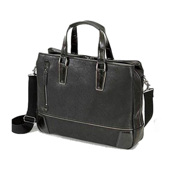 ビジネスバッグ メンズ 革 合皮 ショルダー付属 三方開き ビジネス トート メンズ ブリーフケース 軽量 トートバッグ レザー 自立 肩掛け 大容量 ビジネスバック 出張 ブリーフ 鞄 バッグ 3室 B4 A4 ブランド BAGGEX グレート ブラック