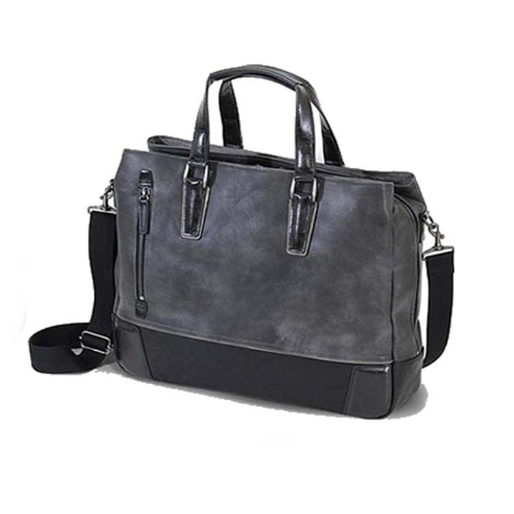 ビジネスバッグ メンズ 革 合皮 ショルダー付属 三方開き ビジネス トート メンズ ブリーフケース 軽量 トートバッグ レザー 自立 肩掛け 大容量 ビジネスバック 出張 ブリーフ 鞄 バッグ 3室 B4 A4 ブランド BAGGEX グレート グレイ