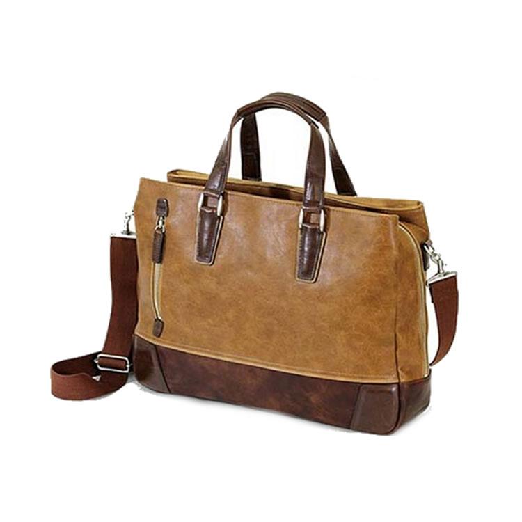 ビジネスバッグ メンズ 革 合皮 ショルダー付属 三方開き ビジネス トート メンズ ブリーフケース 軽量 トートバッグ レザー 自立 肩掛け 大容量 ビジネスバック 出張 ブリーフ 鞄 バッグ 3室 B4 A4 ブランド BAGGEX グレート キャメル