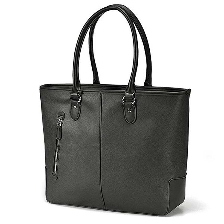 ビジネスバッグ メンズトートバッグ 肩掛けバッグ 合成皮革角シボ型押し合皮 三層 PC収納トートバッグ 自立 肩掛け ビジネスバック 出張 ブリーフ 鞄 バッグ BUSITOOL(ビジツール)