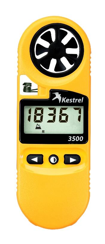 ポケット気象メーター/気象計、風速計、温度計、湿度計、気圧計、高度計 気圧計 、露点温度計、ケストレル3500(Kestrel 3500)