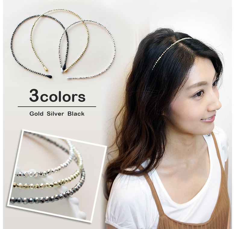 Simple Headband Thin Headband Bangs Stop Hair Accessories Women S Mirror Ball Silver Gold Black Events