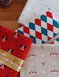 ルドルフ ハローミスター ダイヤ トゥインクルなど4種類のかわいいクリスマスのファブリック 生地 布 コットン 商用利用可 売れ筋 トゥインクル クリスマスデザインコットン クリスマス 送料無料/新品 手芸 手作り