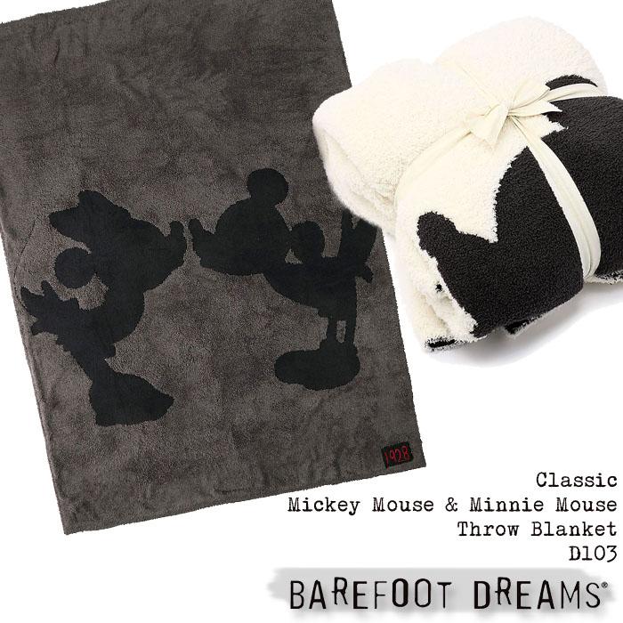 ベアフットドリームス D103 Classic Mickey Mouse & Minnie Mouse Throw Blanket barefoot dreams ブランケット ミッキーマウス ミニーマウス ディズニー ルームウェア ひざ掛け おくるみ マイクロファイバー プレゼント ギフト 毛布