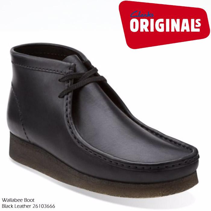 [特典アリ/セットで割引]クラークス ワラビー ブーツ CLARKS Wallabee Boot 26103666Black Leather【USサイズ】ビースワックス レザー ブーツ カジュアル シューズ 革靴 メンズ 男性 ▲[ブラック]ds-Y