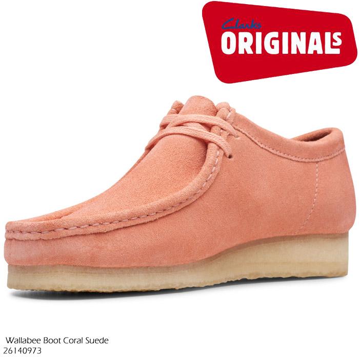 [特典アリ/セットで割引]クラークス ワラビー ブーツ CLARKS Wallabee Boot 26140973 Coral Suede【USサイズ】コーラルスエード ブーツ カジュアル シューズ 革靴 メンズ 男性 ▲[ピンク]ds-Y