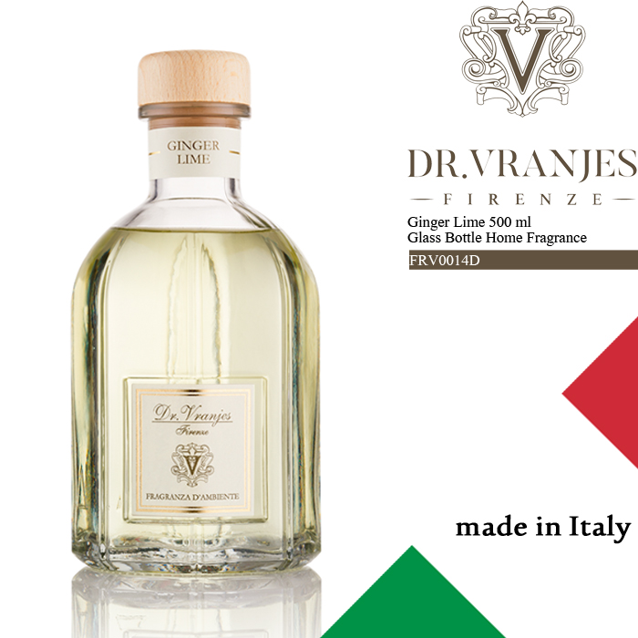 [送料無料]ドットール・ヴラニエス ルーム フレグランス ディフューザー Dr.Vranjes Ginger Lime 500 ml Glass Bottle Home Fragrance FRV0014D 芳香剤 部屋 高級 ds-Y