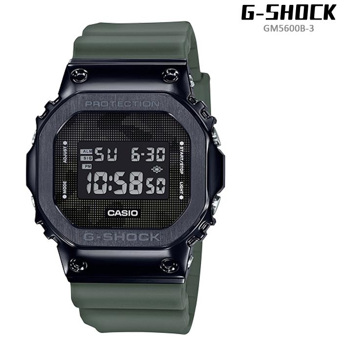 [送料無料]Gショック 腕時計 G-SHOCK GM5600B-3 Olive ジーショック メンズ 腕時計 CASIO カシオ タフソーラー 電波ソーラー プレゼント ギフト