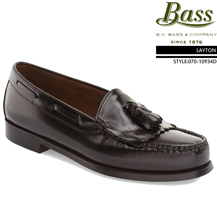 [特典アリ/セットで割引]ジーエイチバス GHバス コインローファー 革靴 G.H Bass LAYTON Brush off leather レイトン ローファー ビジネスシューズ メンズ 男性 ▲[ブラック]