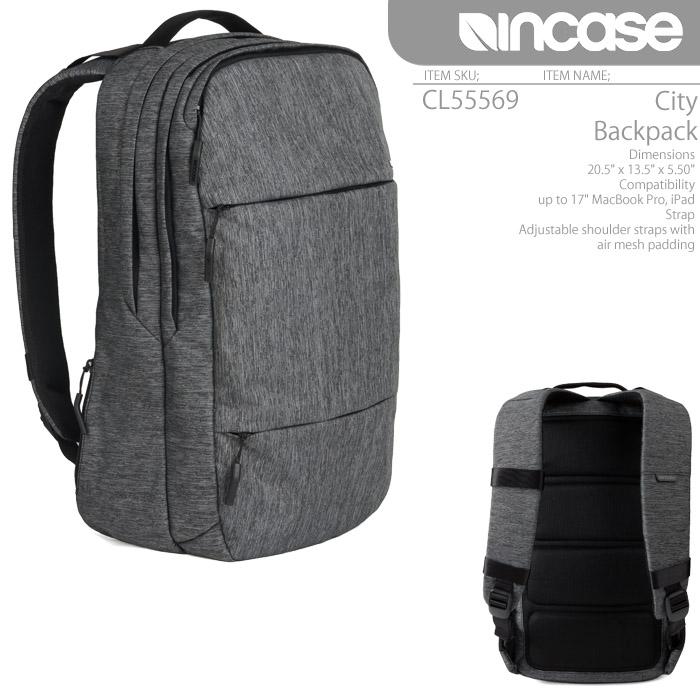 [あす楽]INCASE City Backpack CL55569 HeatherBlack/Gunmetal Gray インケース バックパック バッグ リュック Macbook AIR iPad